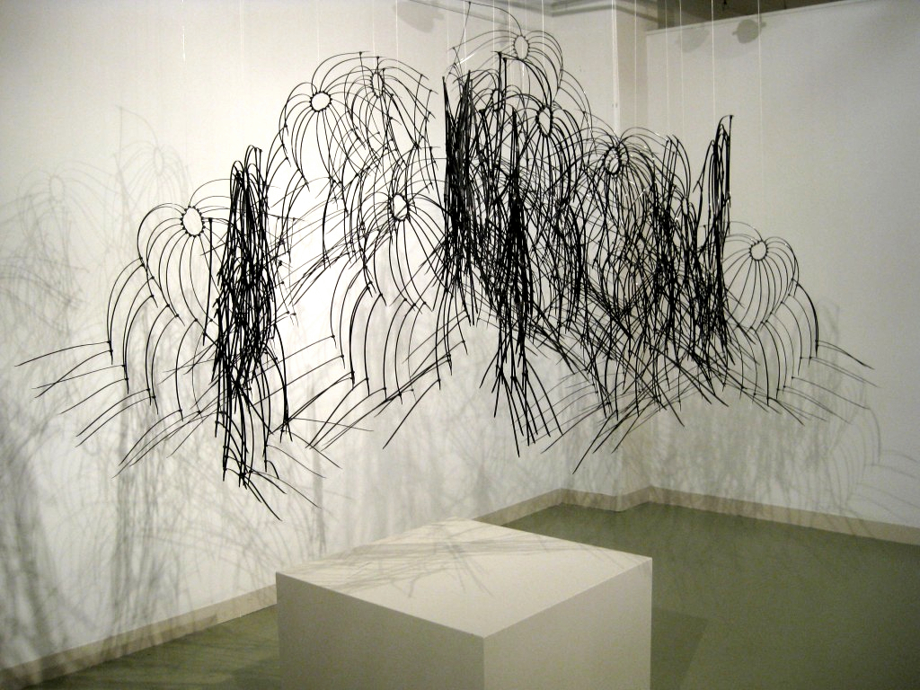 Black cloud cable tie sculpture