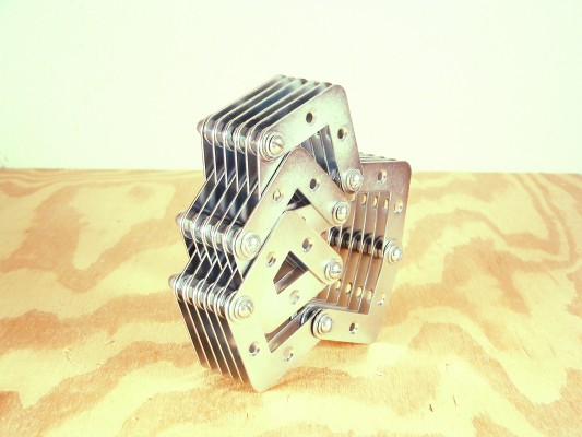Metal connector sculpture