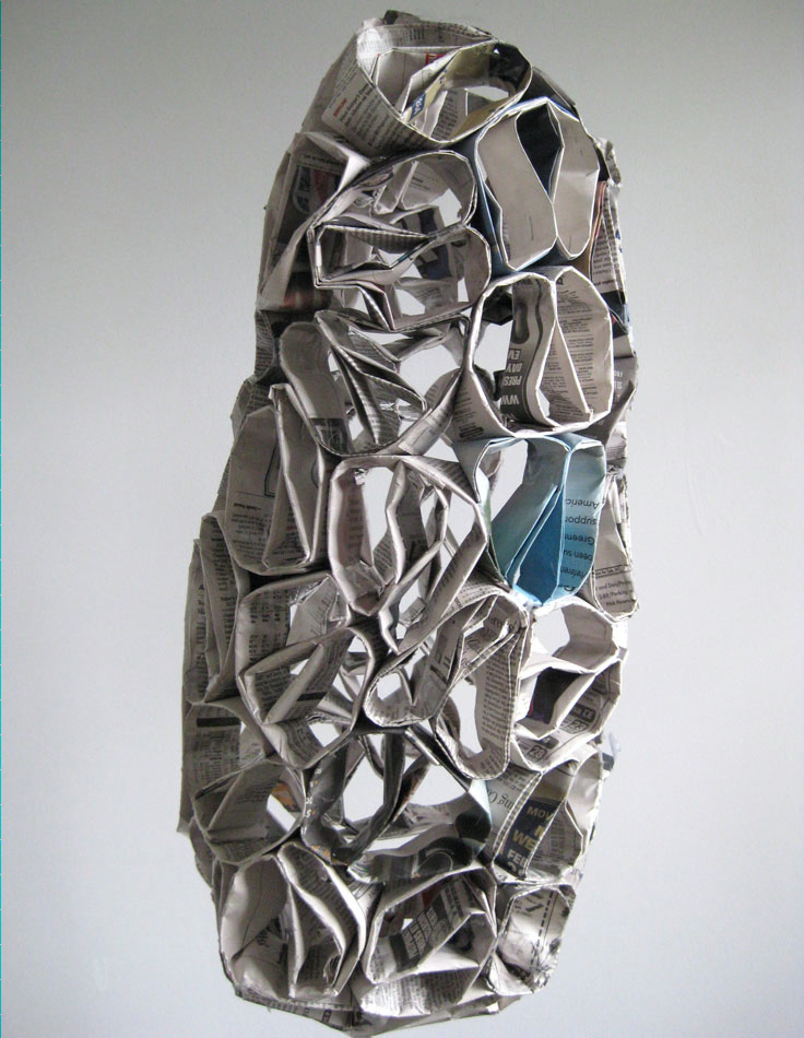 News to me Newspaper Sculpture