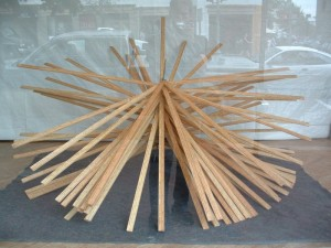 Meter Sticks Sculpture
