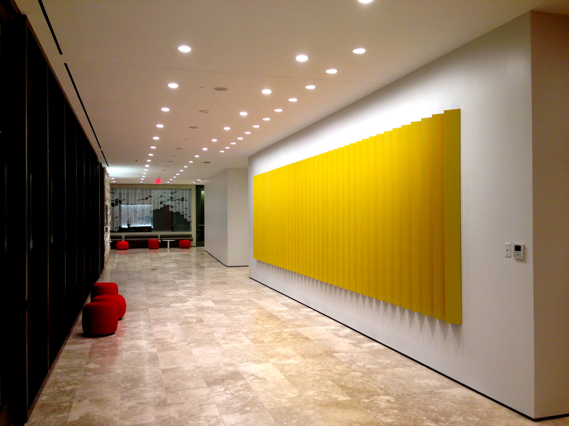 Edmond van der Bijl, Sculpture, American Psychological Association, yellow color bars